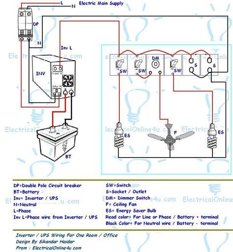 inverter wiring diagram ups inverter wiring diagram for one room office