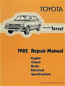 1982 Toyota Corolla Tercel Repair Shop Manual Original No
