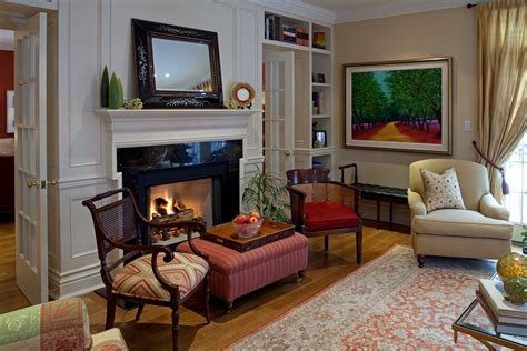 cane  chair living room traditional  fireplace
