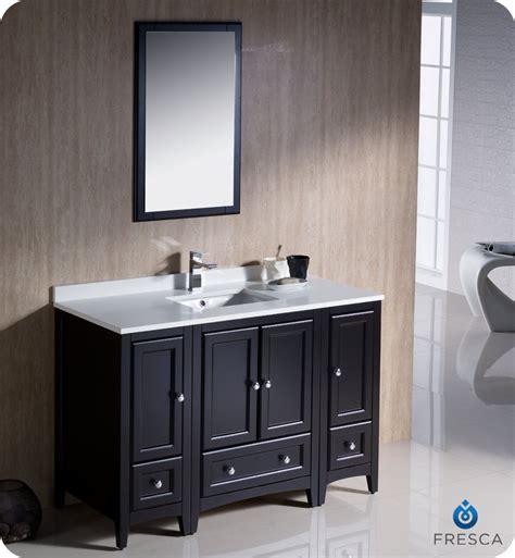 fresca oxford 54 quot traditional bathroom vanity espresso