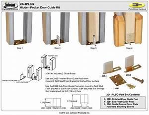 2041plbg Hidden Pocket Door Guide Kit