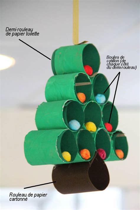 bricolage de sapin de no 235 l avec rouleaux de papier de toilette brico tes noel