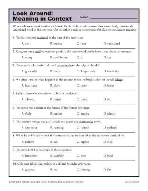 worksheets context clues middle school 25 best ideas about context clues activity on