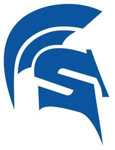 High School Spartan Logos Blue