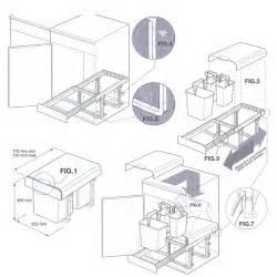 abfallbehälter küche abfallbehälter abfalleimer mülleimer vollauszug abfallsammler einbaumülleimer ebay