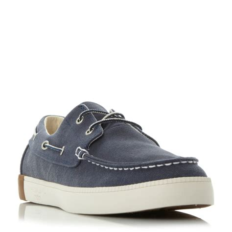 Timberland Blue Boat Shoes Mens by Timberland A1575 Cupsole Boat Shoes In Blue For Lyst