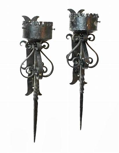 Wall Candle Iron Castle Wrought Chandeliers Sconce