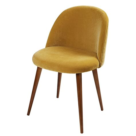 chaise moutarde chaise vintage en velours jaune moutarde mauricette