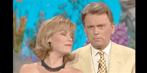 pat sajak tongue gif  wheel  fortune find share