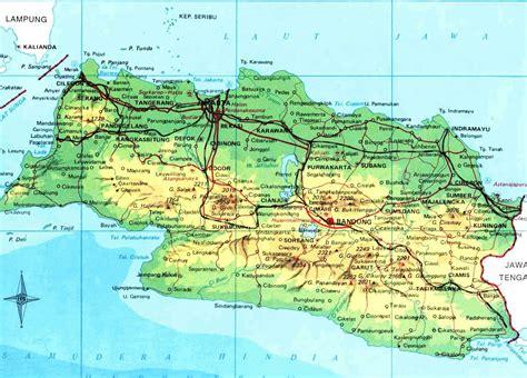 amazing indonesia jawa barat map