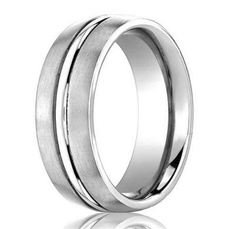 designer 950 platinum wedding ring for satin finish band 4mm