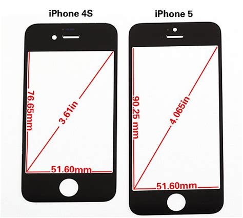 iphone 5 size iphone 5 rumors accurate 4 inch display metal back new