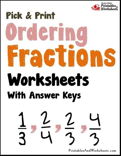 mixed fraction worksheet ordering fractions worksheets printables worksheets