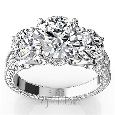 three inspired engagement ring 1 1 10 ct t w