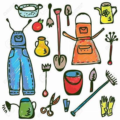 Tools Gardening Clipart Garden Funny Tool Doodle