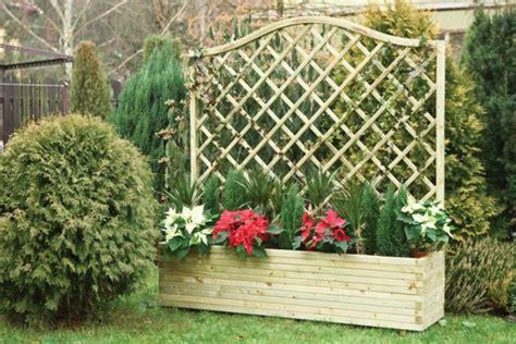 charming bac a fleur plastique 5 jardini 232 re avec treillis pot de fleur rectangulaire treillis