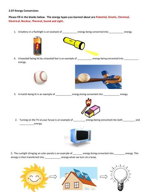 energy worksheet 2 07 help worksheet