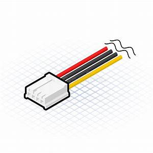 Isometric 4 Pin Floppy Connector Vector Illustration Stock Vector
