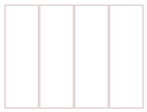 printable blank bookmark templates bookmark template