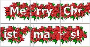 Merry Christmas Printable Banners – Happy Holidays!