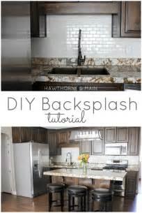 diy kitchen tile backsplash hawthorne and diy kitchen backsplash