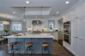 industrial style kitchen islands 25 blue and white kitchens design ideas designing idea