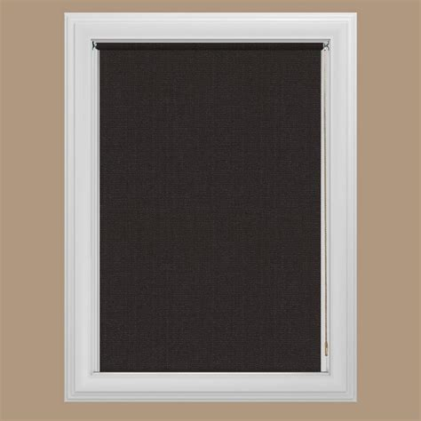 home depot l shades bali cut to size java blackout fabric roller shade 60 in