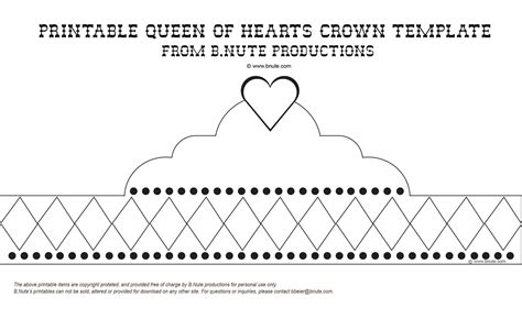 free printable tiara template bnute productions october 2010