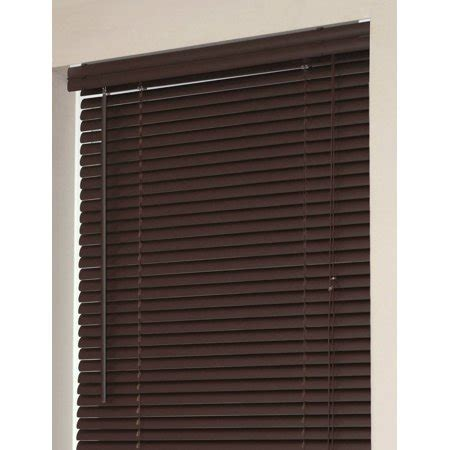 walmart mini blinds vinyl window blinds mini blinds 1 quot slats chocolate venetian