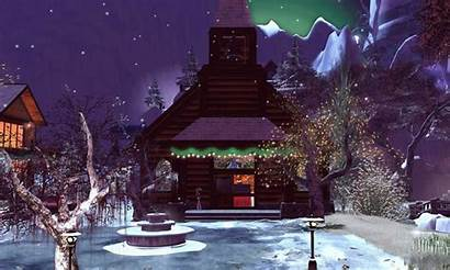 Christmas Scenes Animated Merry Winter Village Holiday