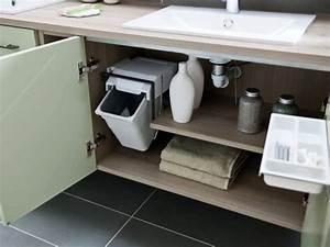 des rangements malins pour la salle de bains maisonapart With amenagement interieur tiroir meuble salle de bain
