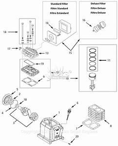 Campbell Hausfeld Vt7610hx Parts Diagram For Pump Parts
