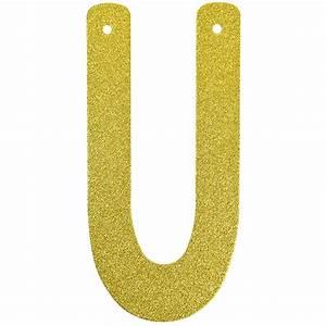 glitter letter banner garland 6inch gold letter u With gold letter garland