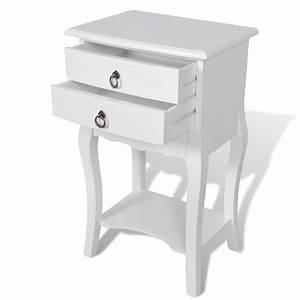 Table De Chevet Blanche : la boutique en ligne table de chevet 2 tiroirs en blanche ~ Teatrodelosmanantiales.com Idées de Décoration