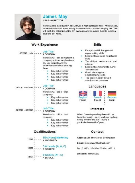 It Cv Template Word by Timeline Cv Template In Microsoft Word How To Write A Cv