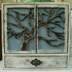 large wall cabinet shelf wood oak tree from honeystreasures on With kitchen cabinets lowes with metal willow tree wall art