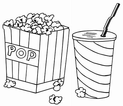 Coloring Corn Sheet Pop Drink Popcorn Pages
