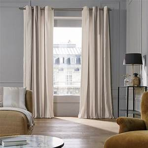 Rideau A Oeillet : rideau oeillets bellagio naturel madura ~ Dallasstarsshop.com Idées de Décoration