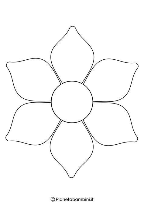 immagini di fiori da stare e colorare 81 sagome di fiori da colorare e ritagliare per bambini