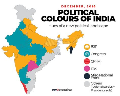 BJP loses Hindi heartlands: Here's what the political map ...