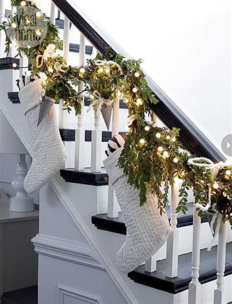 garland for stairs christmas 5 ways to a simply stylish lights