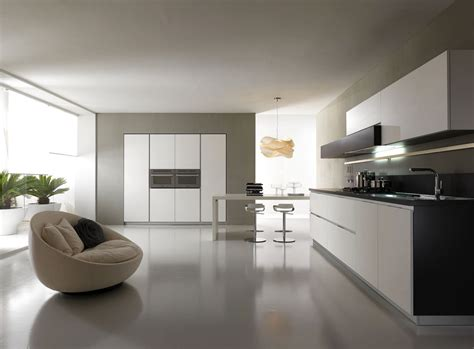 modern white contemporary  minimalist kitchen designs