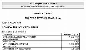 Dodge Grand Caravan Es 1993 System Wiring Diagrams