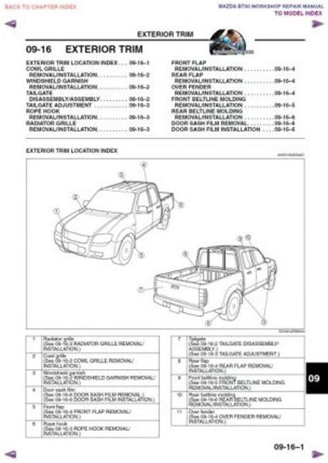 manual de talle y reparacion mazda bt 50 ford ranger y ford everest 2007 2013