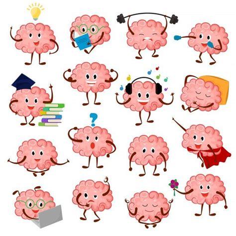 Emoção De Cérebro Cartoon Personagem Inteligente Expressão