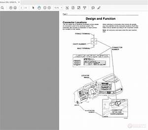 Volvo Vnl-vnm Reading Single Circuit Electrical Schematics