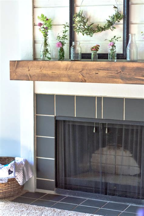 paint fireplace tile diy fireplace makeover