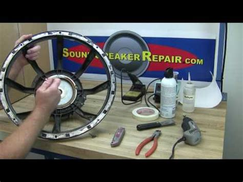 Cara Memperbaiki Pulser Motor by How To Recone And Repair A Speaker Or Woofer With A Pro