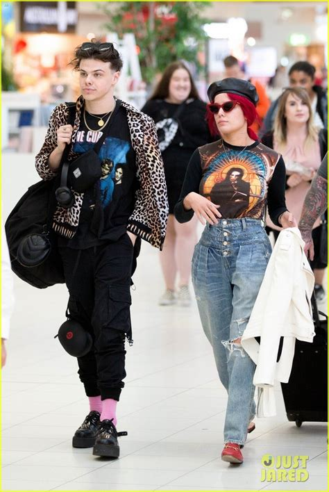 halsey yungblud share sweet moment  airport photo