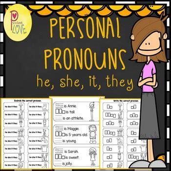personal pronouns worksheet  preschool love teachers